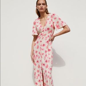 Zara Pink Floral Dress